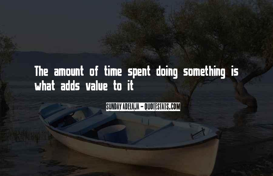 Time Spent With U Quotes #26208