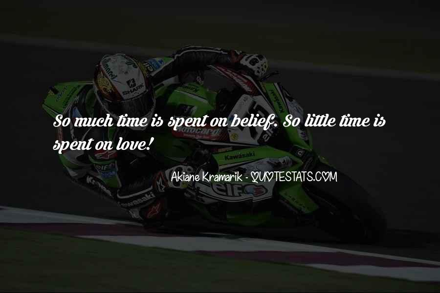 Time Spent With You Love Quotes #4773