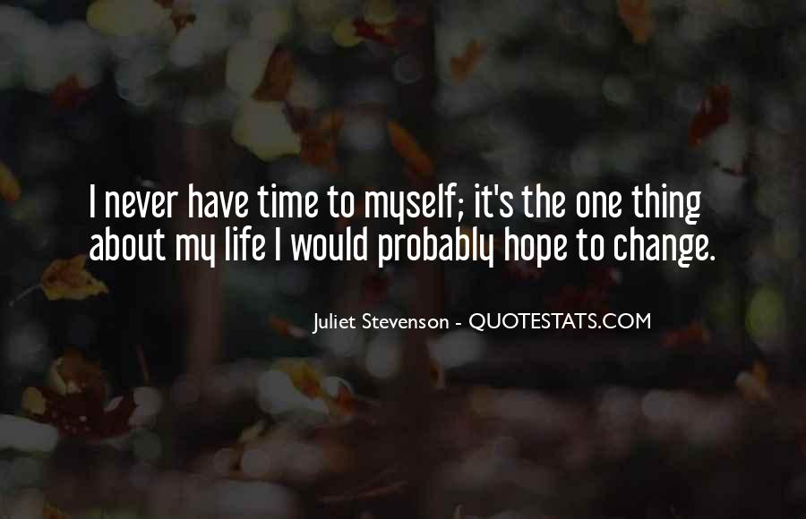Time To Change Myself Quotes #1132655