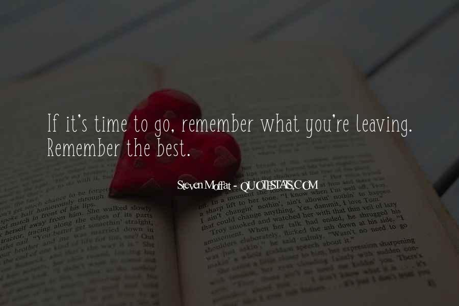 Time To Go Quotes #23787