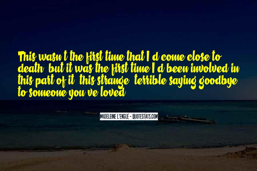 Time To Say Goodbye Love Quotes #1818558