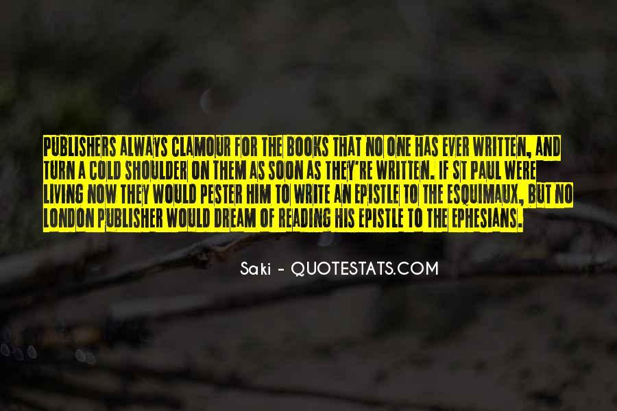Quotes About Saki #402629