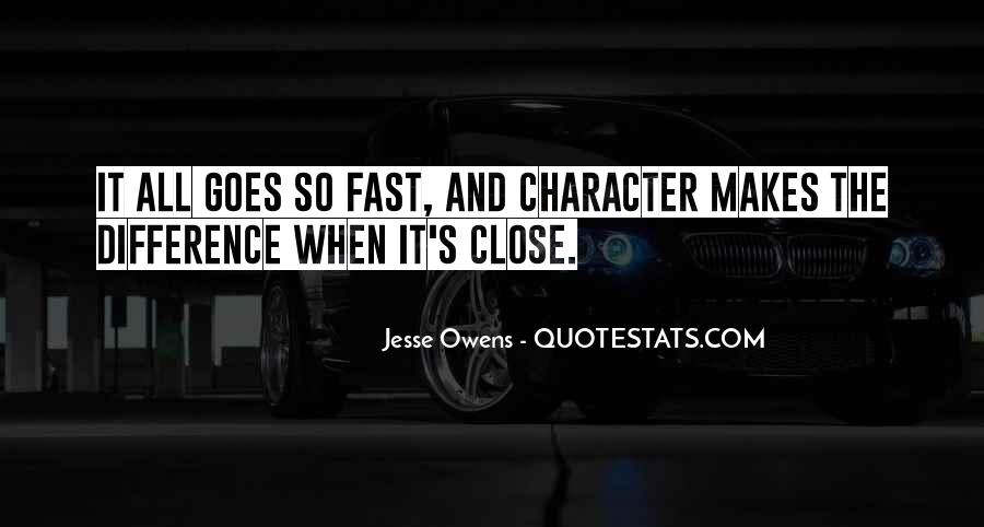 Quotes About Jesse Owens #1063378
