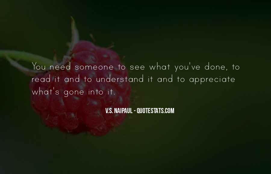 To Appreciate Someone Quotes #71461