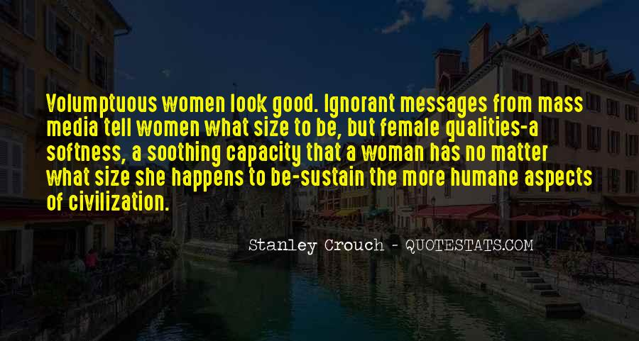 To Be A Good Woman Quotes #594976