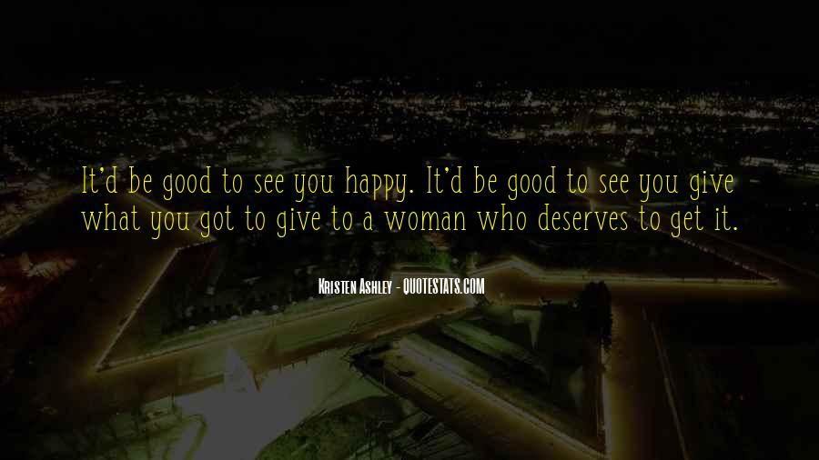 To Be A Good Woman Quotes #637074