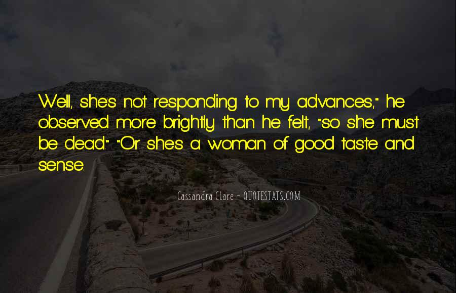 To Be A Good Woman Quotes #676928