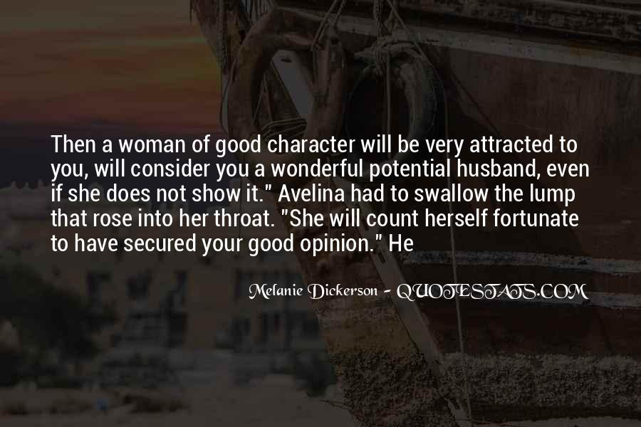 To Be A Good Woman Quotes #98841