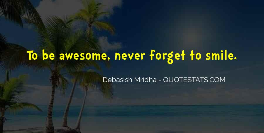 To Be Awesome Quotes #124958