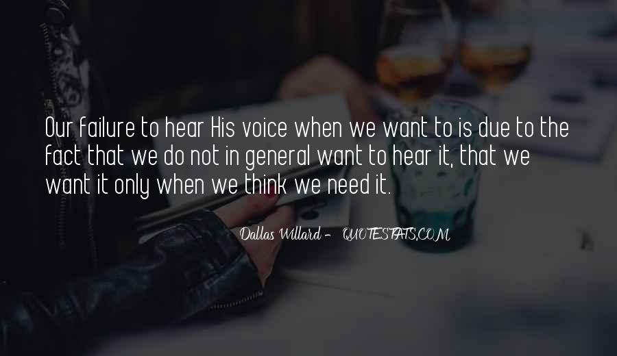 To Hear His Voice Quotes #1367504