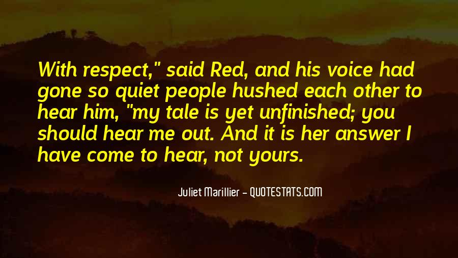 To Hear His Voice Quotes #241507