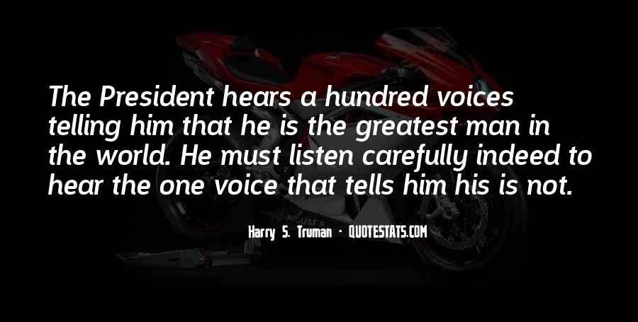 To Hear His Voice Quotes #90948
