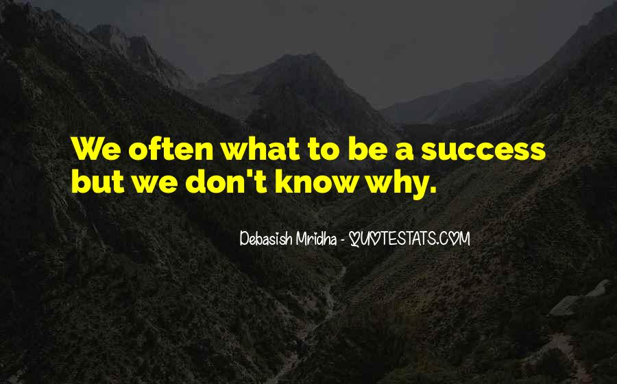 To Know Success Quotes #410410