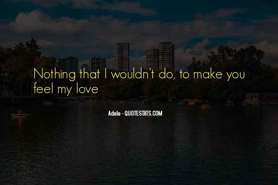 To Make You Feel My Love Quotes #579122