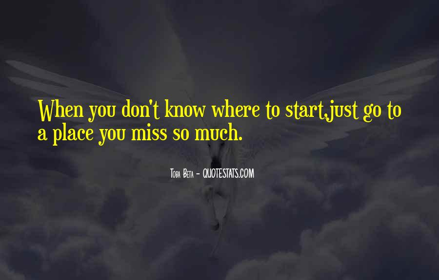 To Miss You Quotes #51095