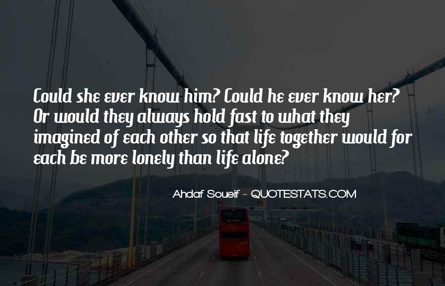 Together But Lonely Quotes #846043
