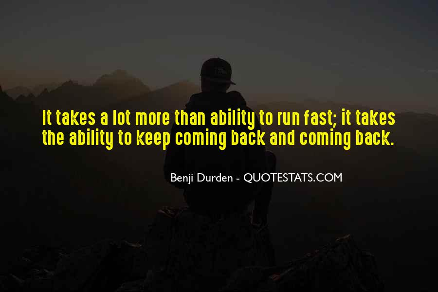 Quotes About Being Fast Running #942220