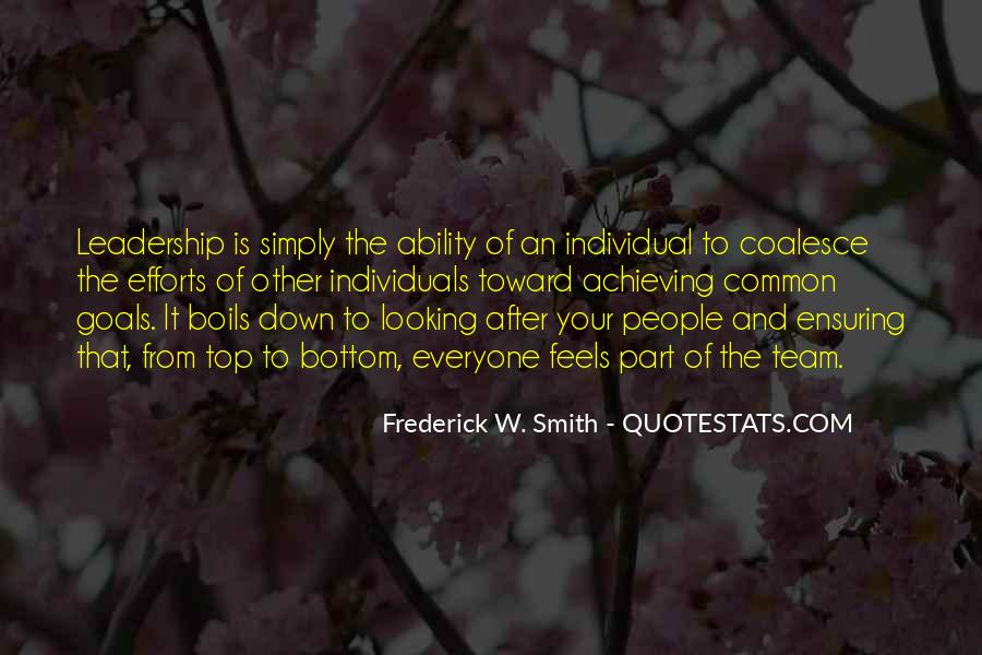 Top Down Leadership Quotes #1277066