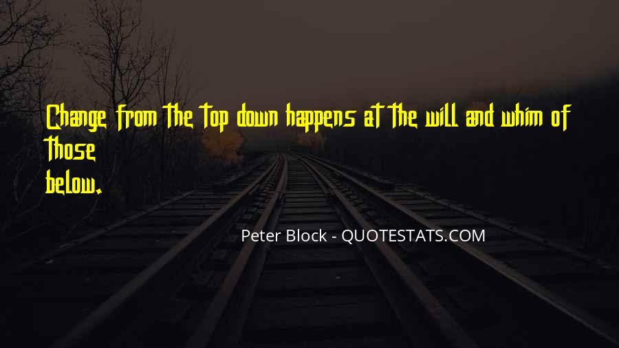 Top Down Leadership Quotes #1369306