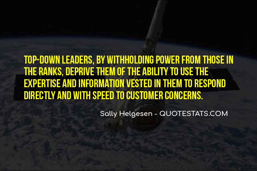 Top Down Leadership Quotes #385334