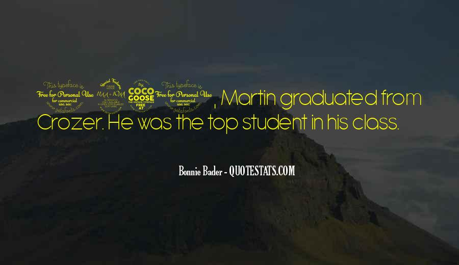 Top In The Class Quotes #1638150
