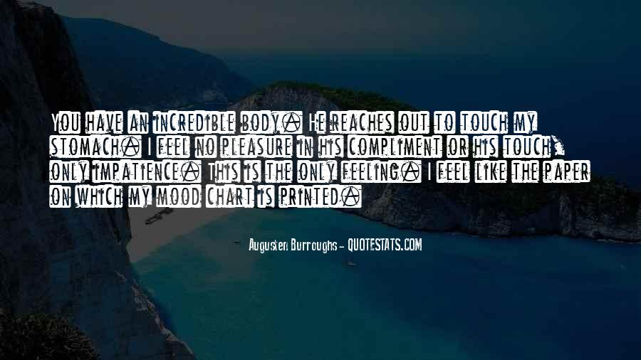 Touch My Body Quotes #178883