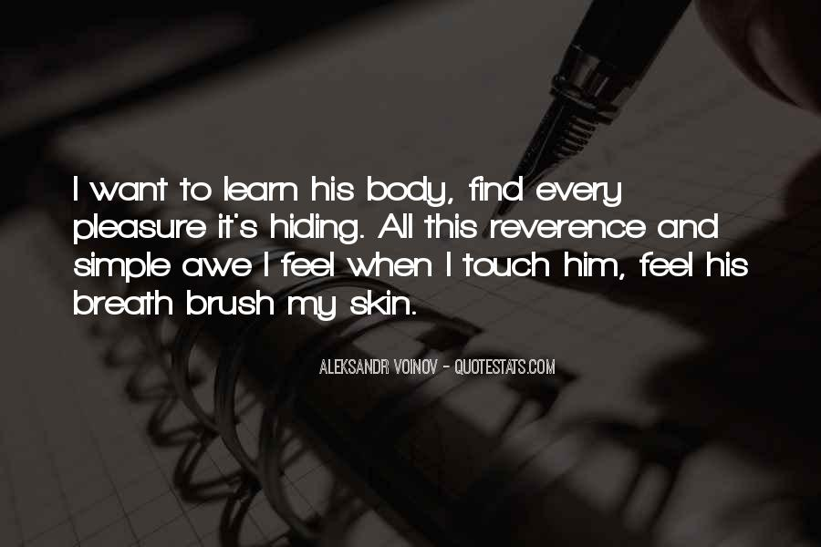 Touch My Body Quotes #476687