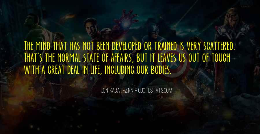 Trained Mind Quotes #1532125