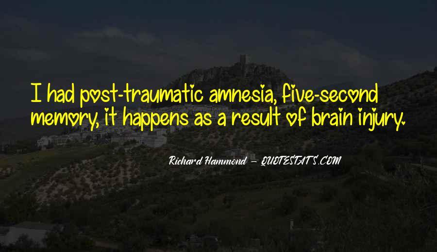Traumatic Injury Quotes #1226640