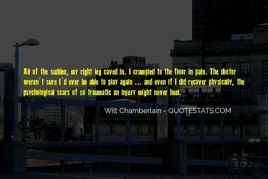 Traumatic Injury Quotes #1785836