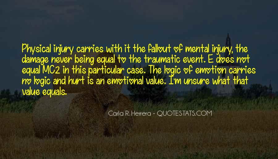 Traumatic Injury Quotes #696802