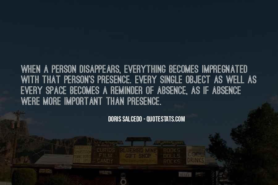 Quotes About Absence Of A Person #1224856