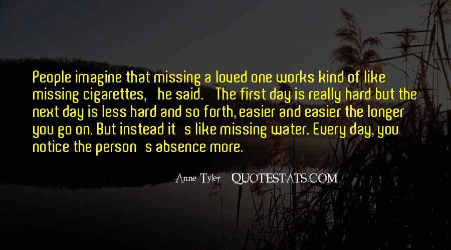 Quotes About Absence Of A Person #1261959