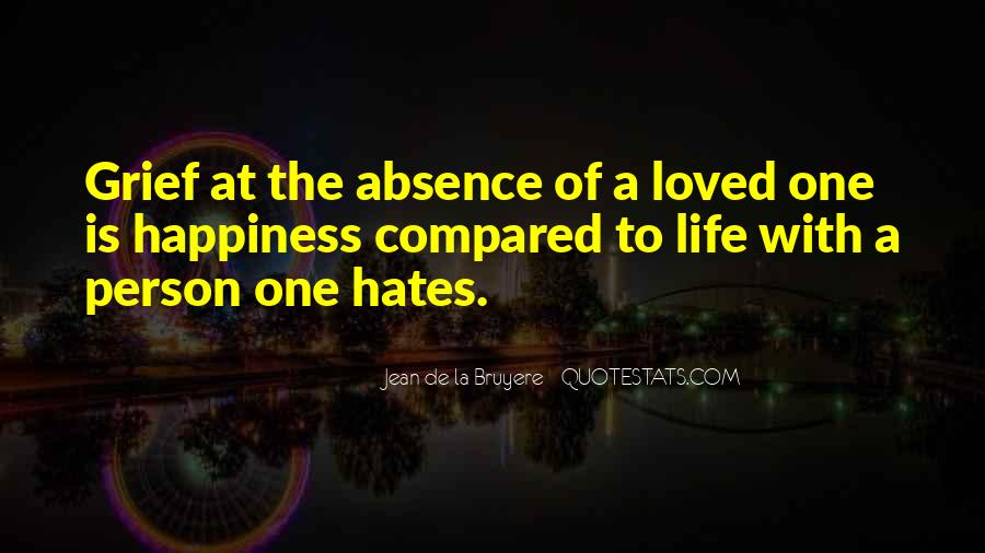 Quotes About Absence Of A Person #1556151
