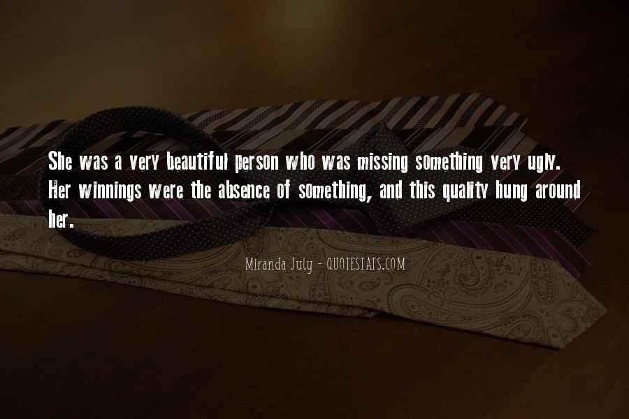 Quotes About Absence Of A Person #1703926