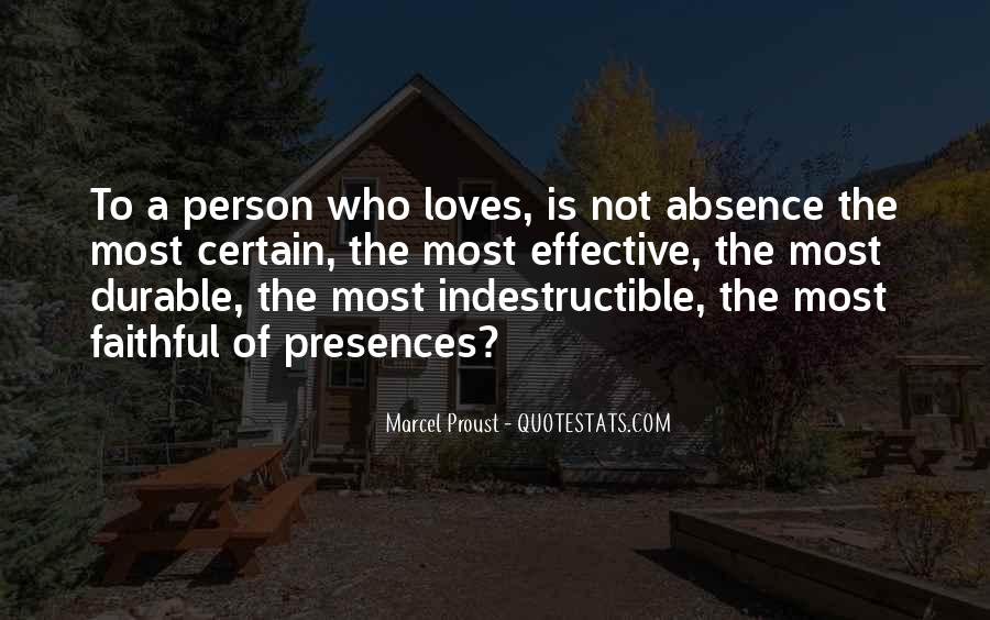 Quotes About Absence Of A Person #246672