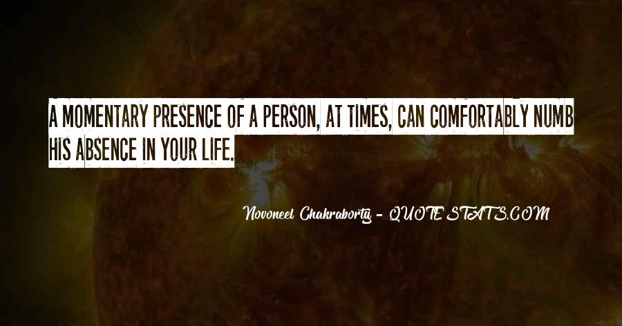 Quotes About Absence Of A Person #923454