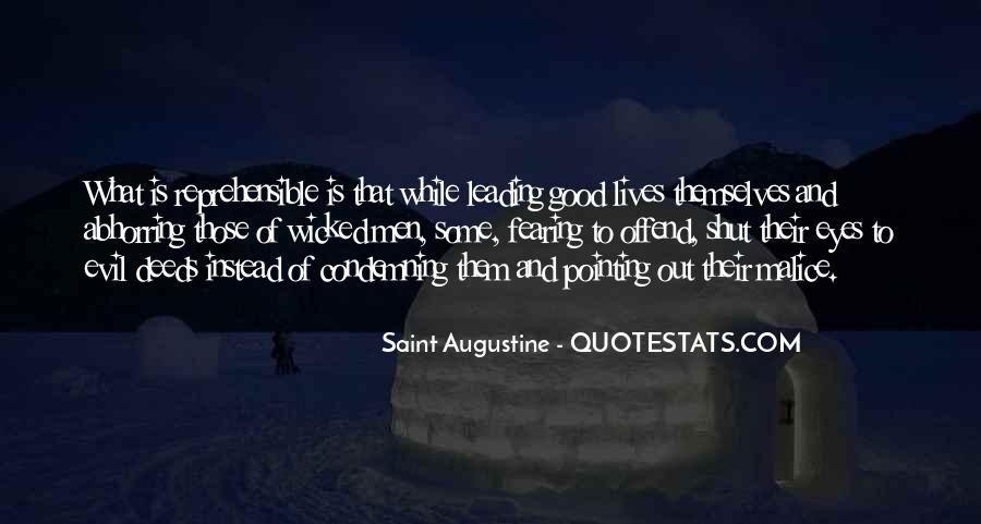 Quotes About Augustine Evil #26354