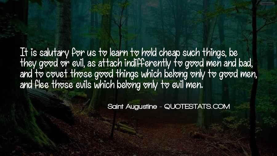 Quotes About Augustine Evil #449990