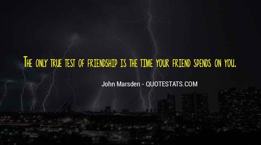 True Friendship Test Quotes #254128