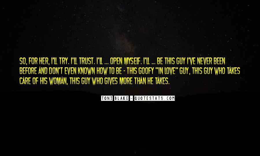 Trust Care Love Quotes #1306217