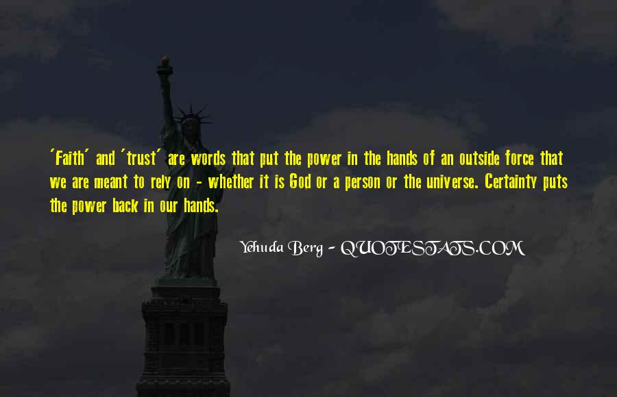 Trust No One But God Quotes #13389