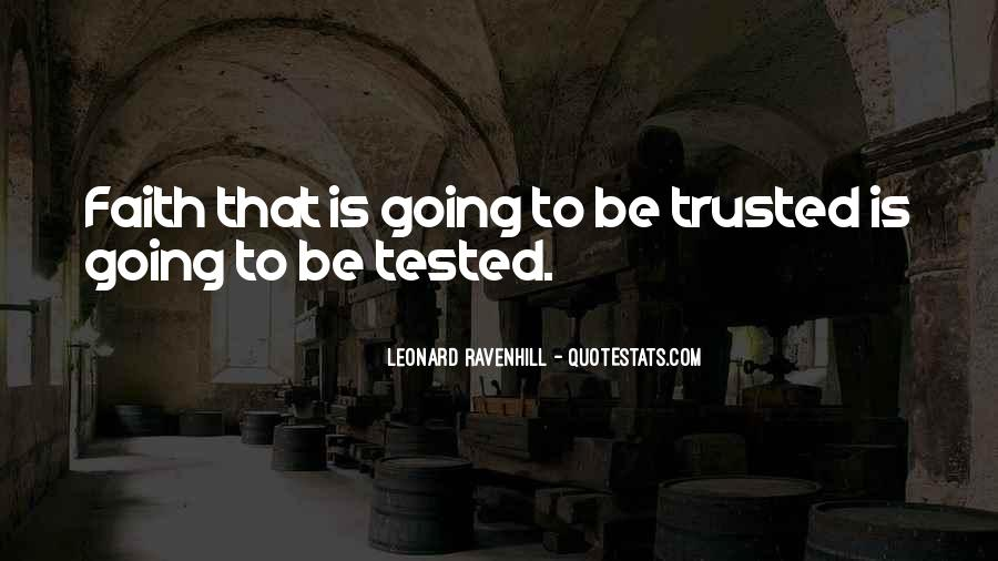 Trusted Man Quotes #96829