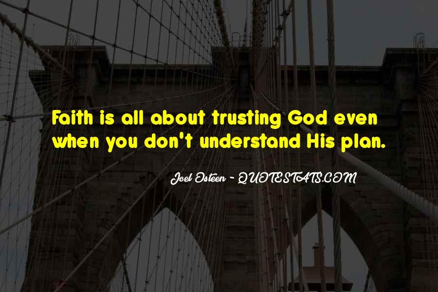 Trusting God Plans Quotes #1198051