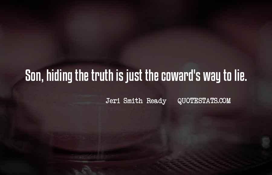 Truth Hiding Quotes #1199429