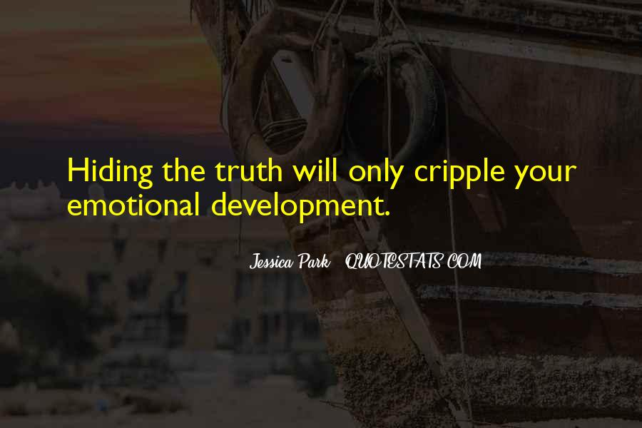 Truth Hiding Quotes #1799388