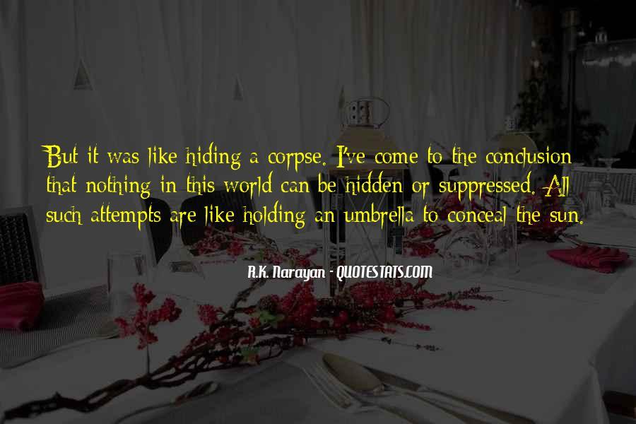 Truth Hiding Quotes #253754