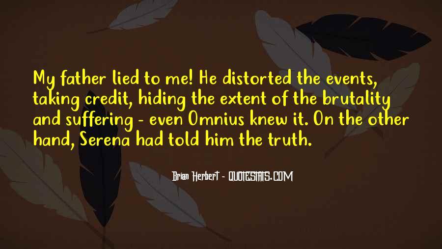 Truth Hiding Quotes #351788