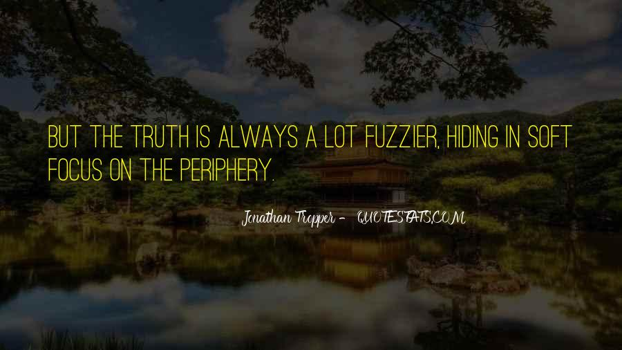Truth Hiding Quotes #480304