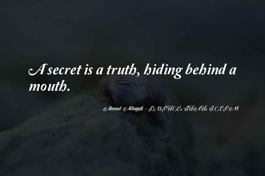 Truth Hiding Quotes #522059